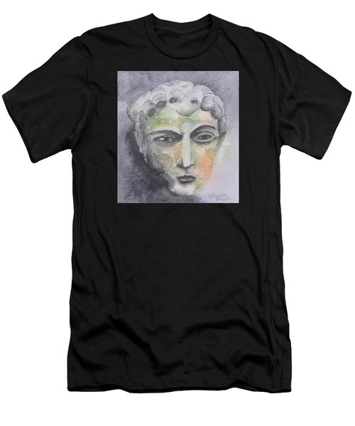 Men's T-Shirt (Slim Fit) featuring the painting Mask II by Teresa Beyer