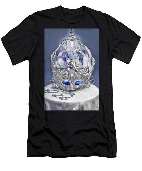 Mask Still Life Blue Men's T-Shirt (Athletic Fit)
