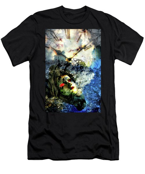 Mask With Red Eyes Men's T-Shirt (Athletic Fit)