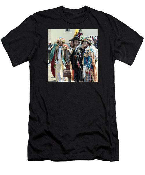 Masqueraders Of Sao Tome Men's T-Shirt (Slim Fit) by John Potts