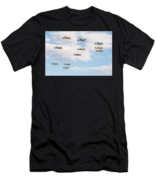 Massed Spitfires Men's T-Shirt (Athletic Fit)