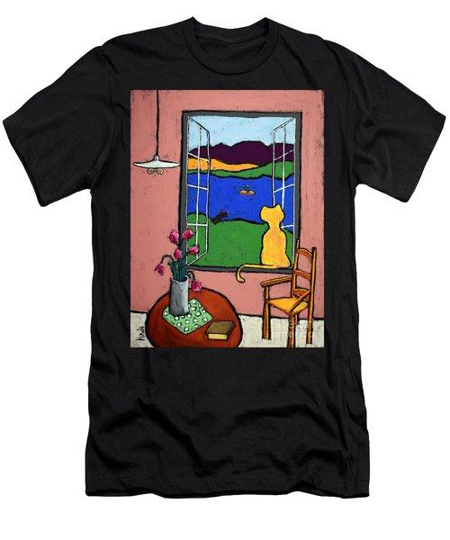 Matisse's Cat Men's T-Shirt (Athletic Fit)