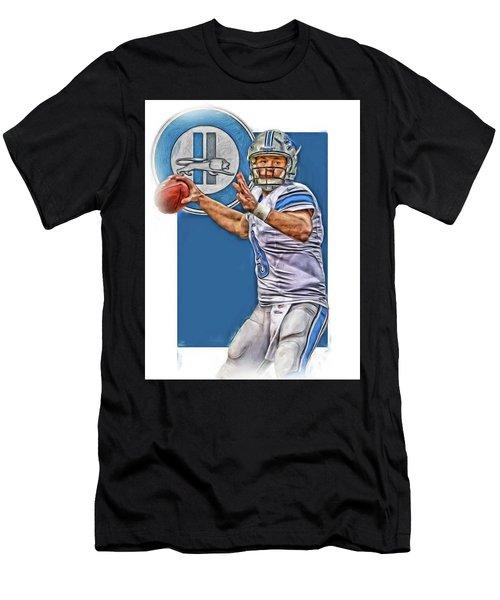 Matthew Stafford Detroit Lions Oil Art 2 Men's T-Shirt (Athletic Fit)