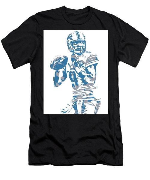 Matthew Stafford Detroit Lions Pixel Art 21 Men's T-Shirt (Athletic Fit)