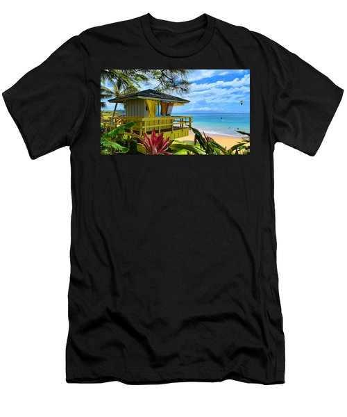 Maui Kamaole Beach Men's T-Shirt (Slim Fit) by Michael Rucker