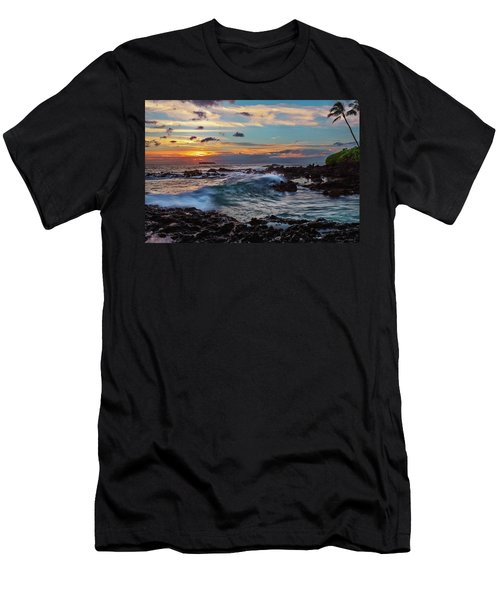 Men's T-Shirt (Athletic Fit) featuring the photograph Maui Sunset At Secret Beach by John Hight