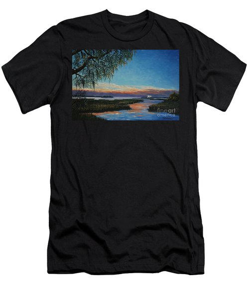 May River Sunset Men's T-Shirt (Athletic Fit)