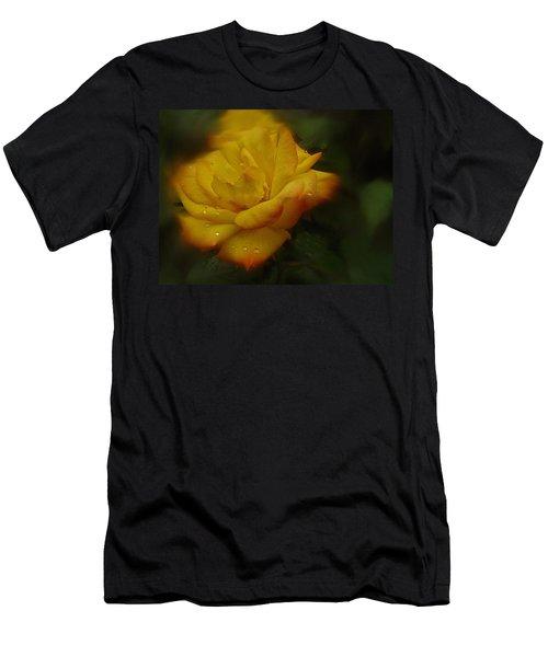 May Rose In The Rain Men's T-Shirt (Slim Fit) by Richard Cummings