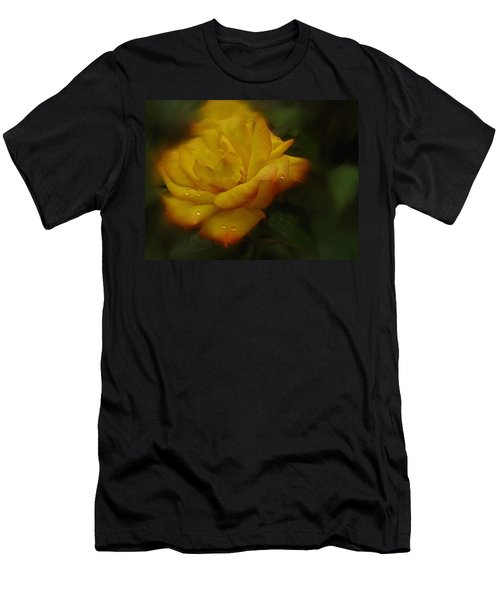 May Rose In The Rain Men's T-Shirt (Athletic Fit)