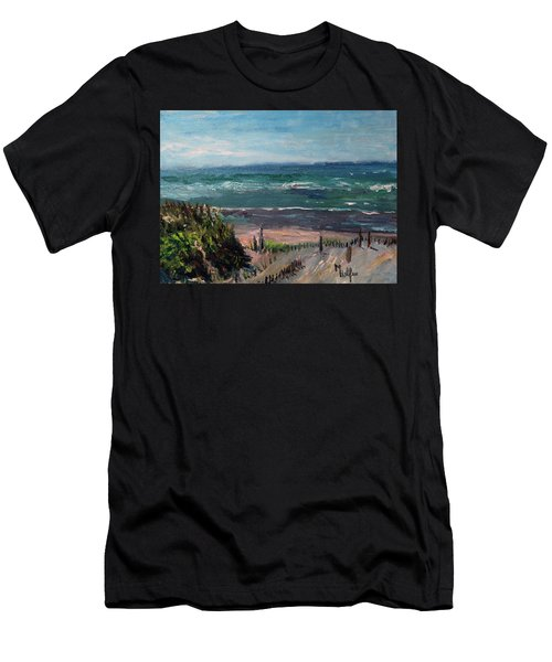Mayflower Beach Men's T-Shirt (Athletic Fit)