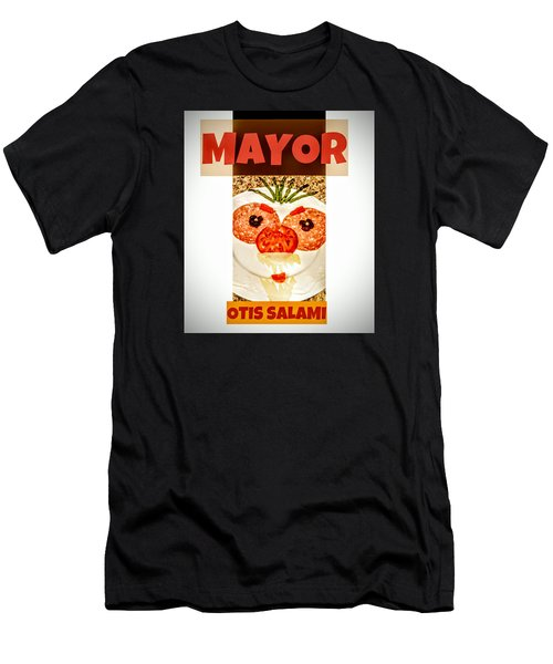 Men's T-Shirt (Athletic Fit) featuring the photograph Mayor Otis Salami T-shirt by Jennifer Hotai