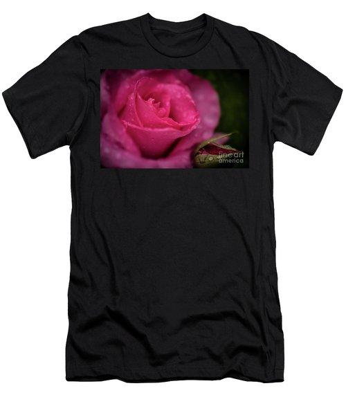 Mccartney Rose Men's T-Shirt (Slim Fit) by Judy Wolinsky