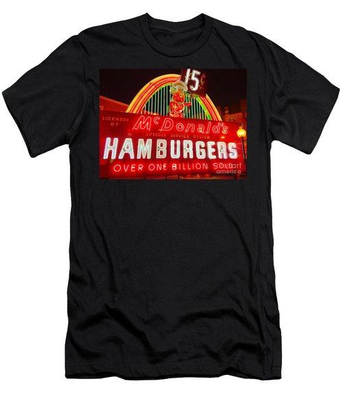 Mcdonald's Historical Neon Men's T-Shirt (Athletic Fit)