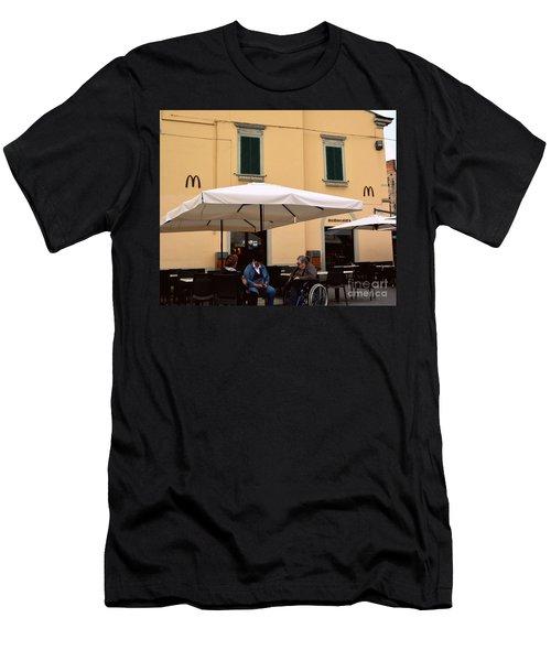 Mcdonald's In Pisa, Italy Men's T-Shirt (Athletic Fit)