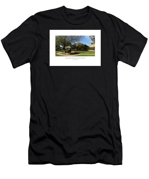 Men's T-Shirt (Athletic Fit) featuring the digital art Mcindoe Statue by Julian Perry