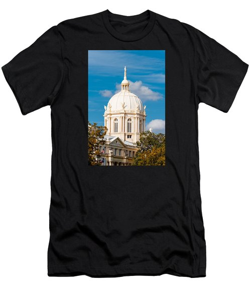 Mclennan County Courthouse Dome By J. Reily Gordon - Waco Central Texas Men's T-Shirt (Athletic Fit)