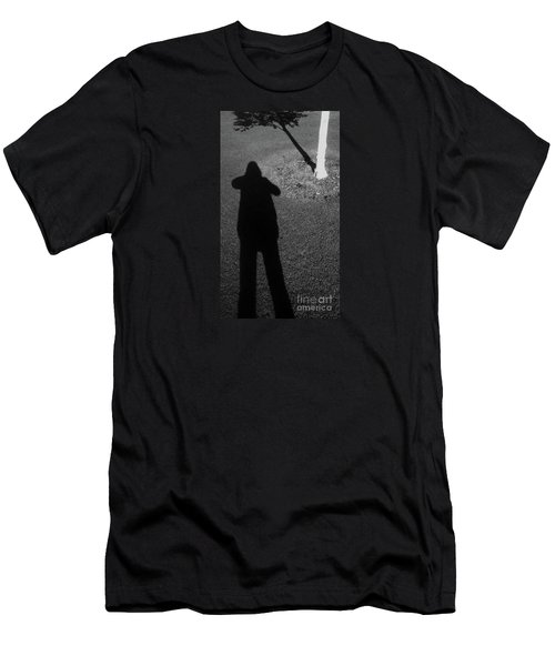 Me And My Shadow Men's T-Shirt (Slim Fit) by Nareeta Martin