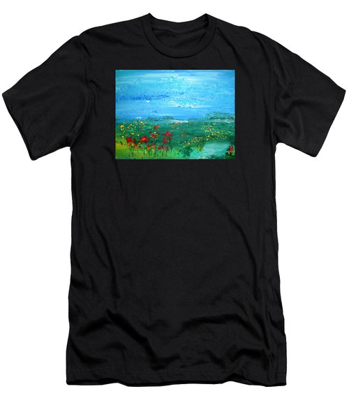 Meadow Pond By Colleen Ranney Men's T-Shirt (Athletic Fit)