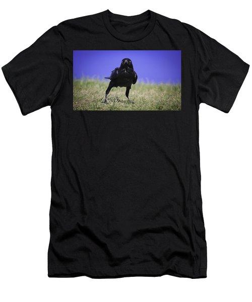 Menacing Crow Men's T-Shirt (Athletic Fit)