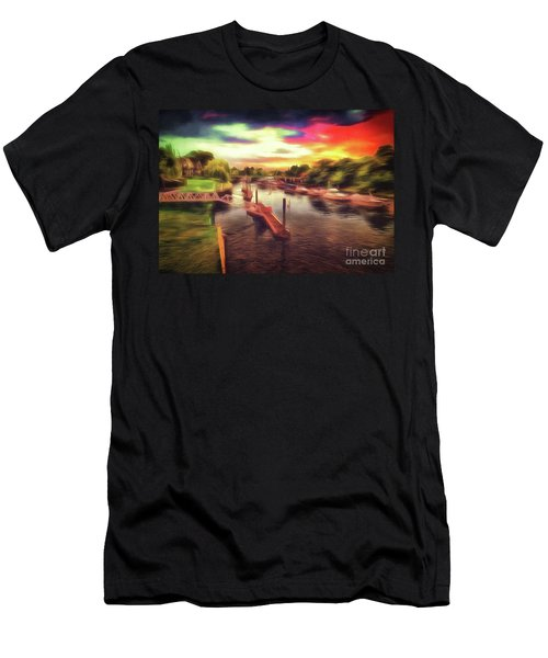 Meanwhile Back On The River Men's T-Shirt (Athletic Fit)