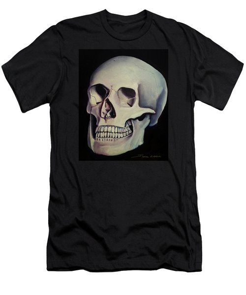 Men's T-Shirt (Slim Fit) featuring the painting Medical Skull  by James Christopher Hill