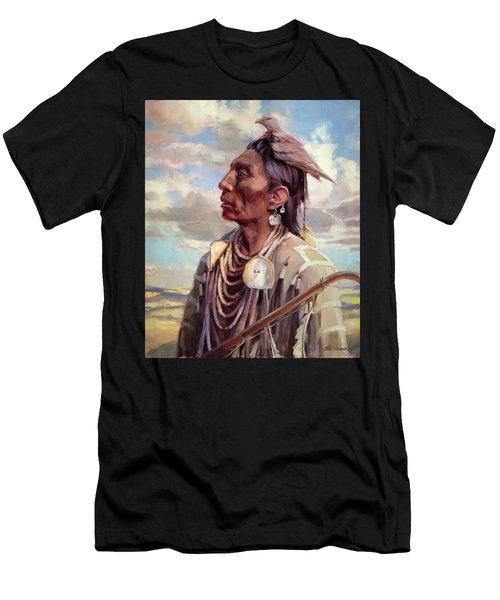 Men's T-Shirt (Athletic Fit) featuring the painting Medicine Crow by Steve Henderson