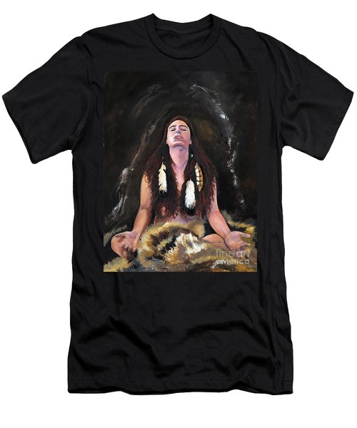 Medicine Woman Men's T-Shirt (Slim Fit) by J W Baker