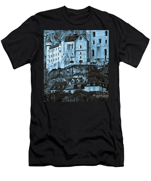 Medieval Castle In The Pilgrimage Town Of Rocamadour Men's T-Shirt (Athletic Fit)