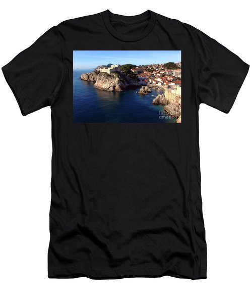 Medieval Fortresses Lovrijenac And Bokar Dubrovnik Men's T-Shirt (Athletic Fit)