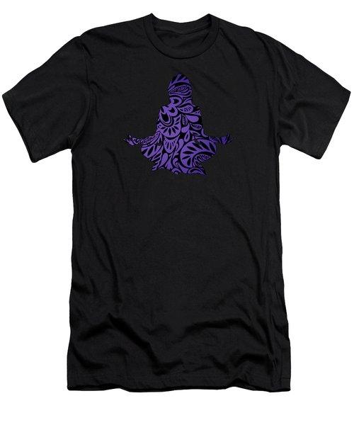 Meditate Ultraviolet Men's T-Shirt (Athletic Fit)