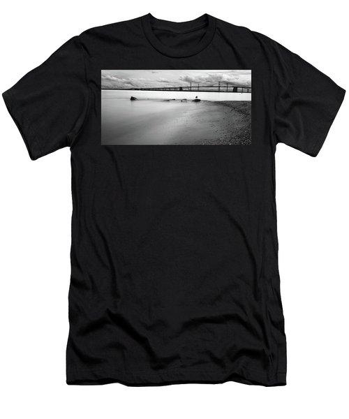 Meditating Sea Gull Men's T-Shirt (Athletic Fit)