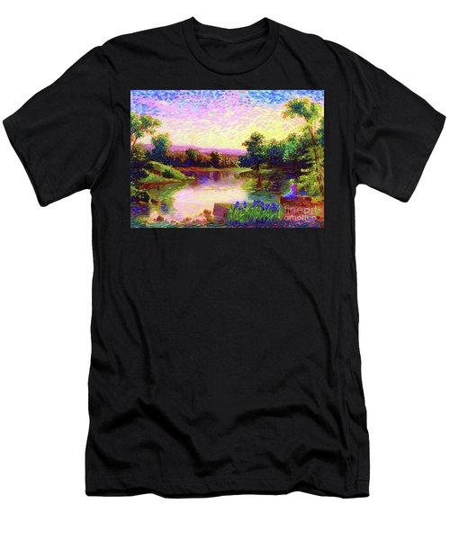 Men's T-Shirt (Slim Fit) featuring the painting  Meditation, Just Be by Jane Small
