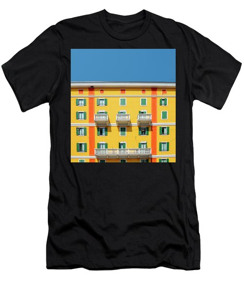 Mediterranean Colours On Building Facade Men's T-Shirt (Athletic Fit)