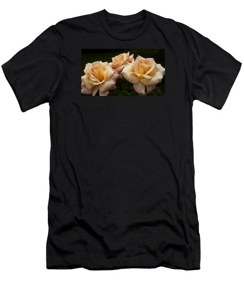 Medley Of Three Yellow Roses Men's T-Shirt (Athletic Fit)