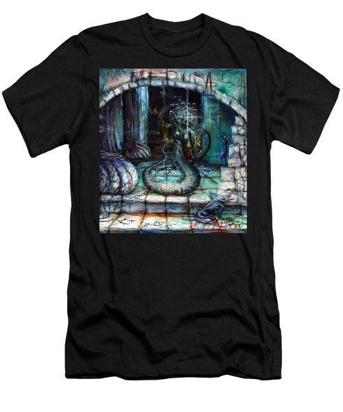 Men's T-Shirt (Slim Fit) featuring the painting Medusa by Heather Calderon