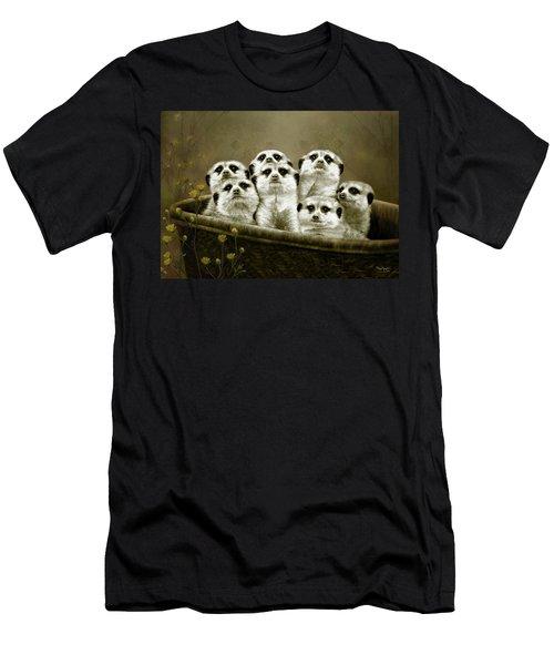 Meerkats Men's T-Shirt (Slim Fit) by Thanh Thuy Nguyen