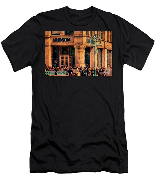 Meet You At Hudson's Men's T-Shirt (Slim Fit) by David Blank