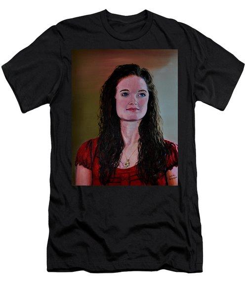 Megan At Eighteen Men's T-Shirt (Slim Fit) by Stan Hamilton