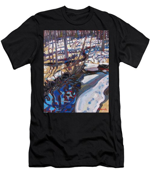 Melt Water And Ice At The Forest Edge Men's T-Shirt (Athletic Fit)