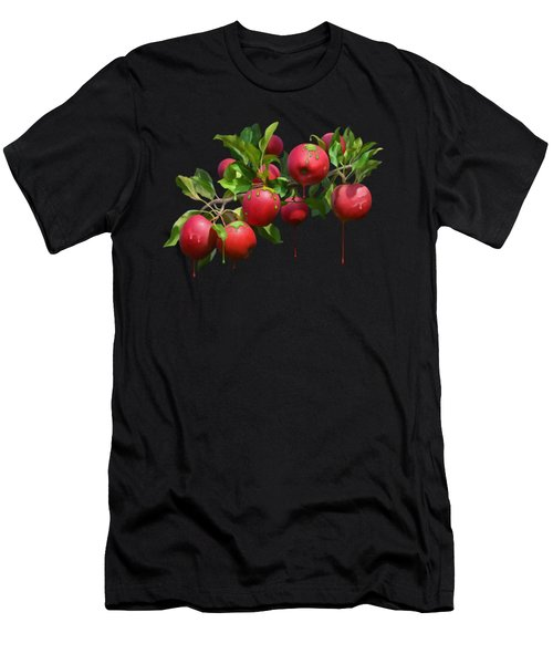 Men's T-Shirt (Athletic Fit) featuring the digital art Melting Apples by Ivana Westin