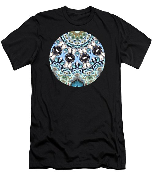 Melting Colors In Symmetry Men's T-Shirt (Athletic Fit)