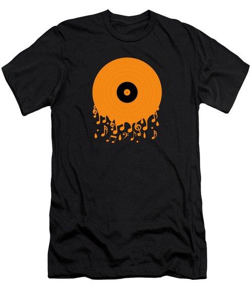Melting Music Men's T-Shirt (Athletic Fit)