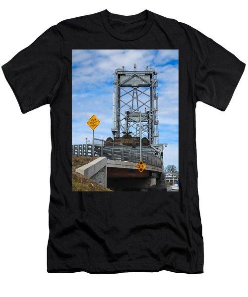 Memorial Bridge Portsmouth  Nh Men's T-Shirt (Athletic Fit)