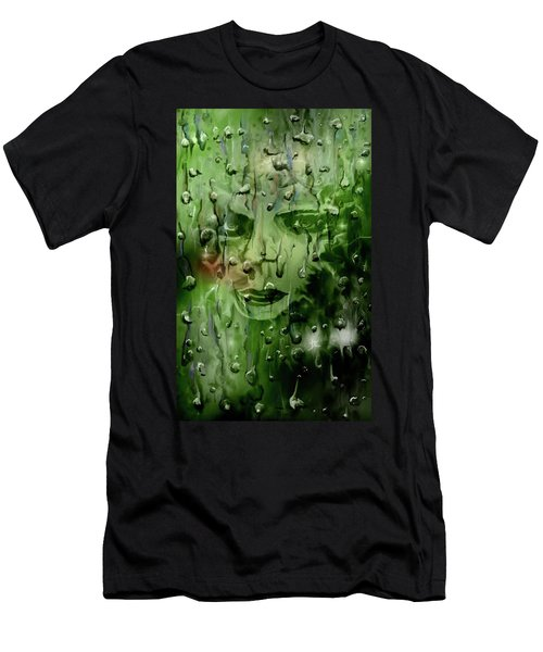 Men's T-Shirt (Athletic Fit) featuring the digital art Memory In The Rain by Darren Cannell