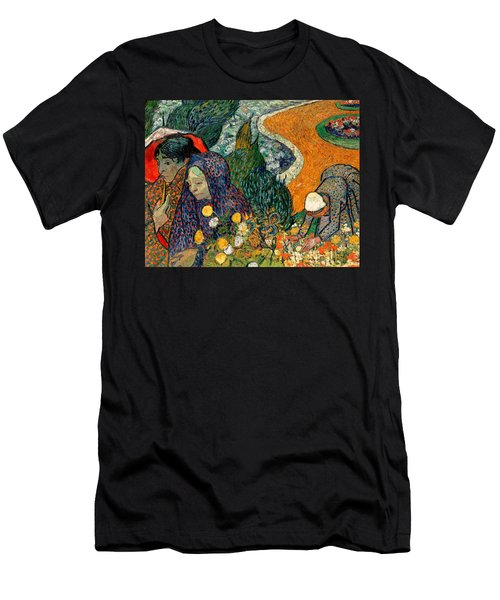 Men's T-Shirt (Athletic Fit) featuring the painting Memory Of The Garden At Etten by Van Gogh