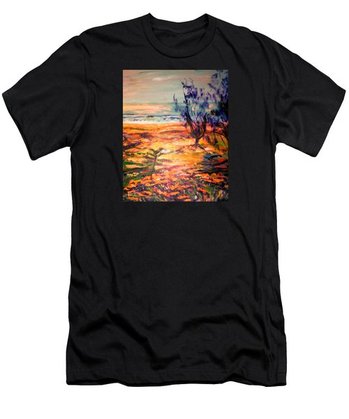 Men's T-Shirt (Slim Fit) featuring the painting Memory Pandanus by Winsome Gunning