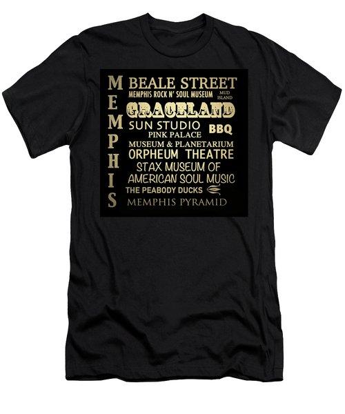 Memphis Tennessee Famous Landmarks Men's T-Shirt (Athletic Fit)
