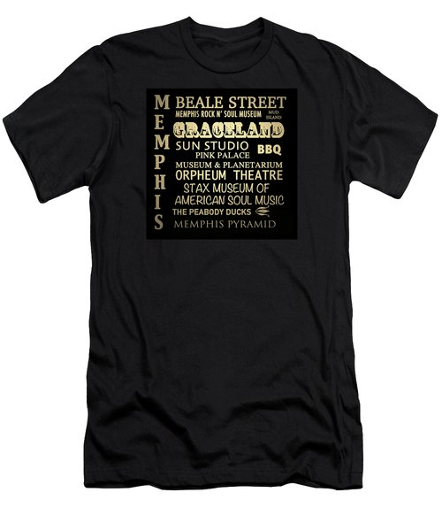 Memphis Tennessee Famous Landmarks Men's T-Shirt (Athletic Fit)