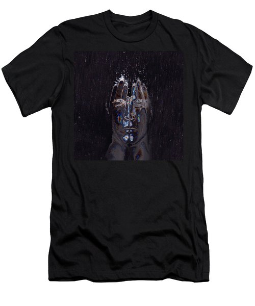 Men Are From Mars Silver Men's T-Shirt (Slim Fit) by ISAW Gallery
