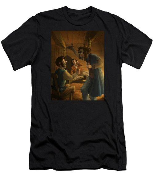 Men In A Hut Men's T-Shirt (Athletic Fit)